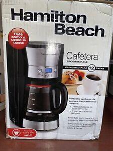 Hamilton Beach 12 Cup Programmable Coffee Maker Automatic Black