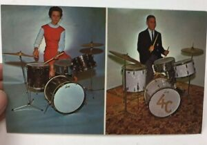 1960s Unsent LADY DRUMS Advertising Postcard San Francisco
