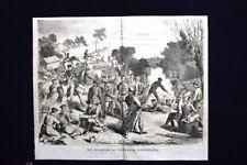 Un bivacco di fanteria prussiana Incisione del 1870
