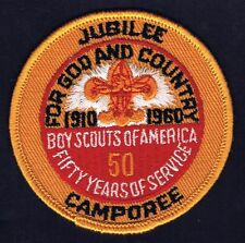 1960 50th Anniversary Jubilee Camporee YEL/RED Brd YEL/RED Bkg YEL FDL 500703