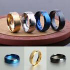 8mm New Stainless Steel Ring Men/Women Wedding Band Silver Black Gold Band Ring