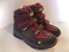 Kids Jack Wolfskin Texapore Walking Hiking Boots Pink UK2