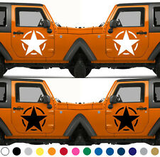 Set of 2 America US U.S. Army Armed Forces Military Star Vinyl Decal Sticker V19