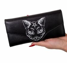 Banned Apparel Pentagram Occult Nemesis Gothic Cat Kitty Wallet Purse