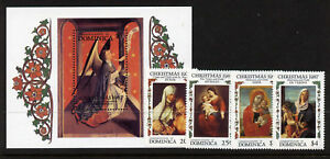 Dominica 1049-53 MNH Christmas, Art, Paintings, Virgin & Child