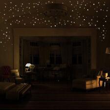 Pretty 407 pcs Glow in the Dark Star Stickers Round Dot Luminous Wall Stickers