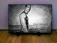 "Paul Walker Sketch Art Portrait on Slate 12x8"" Rare memorabilia collectables"