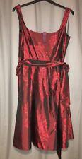 Debenhams - Rose Jacquard 50s Style Prom Dress Red (size 16)