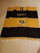 St. Louis Rams Poncho  35 Width x 40 Length Many Uses
