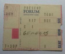 Genesis Original Genuine Used Concert Ticket Forum Los Angeles 1978