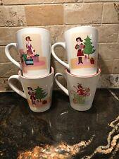 Wendoverlane Holiday Girl Coffee Mugs - set of  4