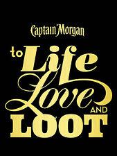 Captain Morgan per vivere l'amore e bottino, stile retrò in metallo Insegna/Placca Man Grotta PUB BAR