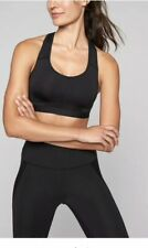 Athleta Hullabraloo Sports Bra Size 32B Black Compression Workout Top Nwt!