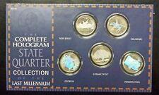 {BJSTAMPS}1999 COMPLETE State QUARTER Hologram Set Last Millennium Capsules/card