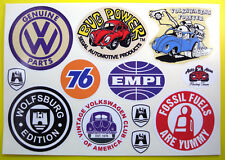 VW Retro vintage Sticker Decal set SO CAL HOT RAT ROD