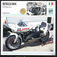 1977 Benelli-Moc R 900 Bol d'Or 890cc Race Motorcycle Photo Spec Info Stat Card