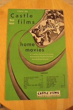 "1955-1956 VINTAGE CATALOG~""CASTLE FILMS"" 8mm 16mm Home Movies~"