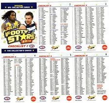2018 AFL SELECT  FOOTY STARS CHECKLIST 6 CARDS FULL SET.