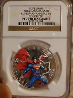 2014 CANADA $20 SUPERMAN - ANNUAL #1 Colorized - NGC PF 70 UC