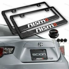 X2 New Real Carbon Fiber License Plate Frame For NISSAN NISMO w/ Caps Screws SET