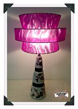 MCM-style lampshade- 3-tier in Purple - Retro, Modern, Atomic or Vintage decor