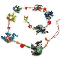 Elephant Ornaments Hanging Strings Christmas Gift 7 Elephants Zenda Imports