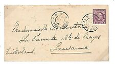 L30 1906 NETHERLANDS INDIES *DEI* Postal Stationery Soerabaja Cover Switzerland