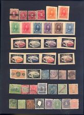 sehr alte exotische Briefmarken auf A4 Steckkarte weltweit 7