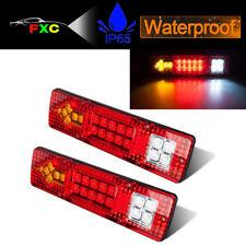 2X 12V 19-LED Trailer Car Rear Tail Brake Stop Turn Light Indicator Reverse Lamp