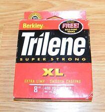 Genuine Berkley Trilene XL Smooth Casting 8LB 400YD Clear Fishing Line **READ**