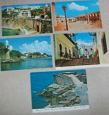 Vtg Old San Juan Puerto Rico Main Entrance Plaza Step St. El Morro Postcard Lot