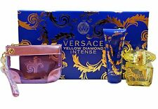 VERSACE YELLOW DIAMOND INTENSE 3PC GIFT SET WITH EAU DE PARFUM SPRAY 90ML NIB
