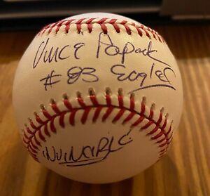 Vince Papale Philadelphia Eagles Signed Auto OML Baseball PSA/DNA Invincible NFL