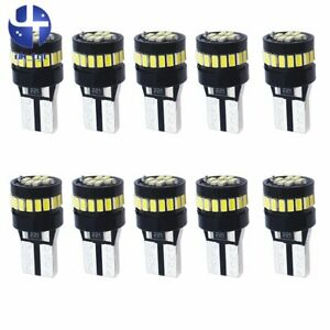 10x T10 Super Bright Led  Xenon White Side Light Bulbs Canbus Error Free 12v