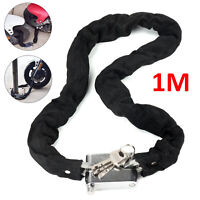 1M Security Metal Motorbike Motorcycle Bicycle Heavy Duty Chain Lock Padlock