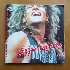 """BON JOVI - LAY YOUR HANDS 7"""" VINYL SINGLE WITH LE POSTER BAG -1989- NEVER PLAYED"""