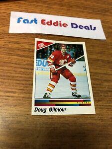 PANINI NHL HOCKEY 1990-91 DOUG GILMOUR STICKER 172 CALGARY FLAMES EXCELLENT