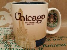 Starbucks Coffee CITY MUG Chicago, Global Icon SERIE, NUOVO & inutilizzato, ORIGINALE!!!