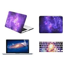 "PURPLE Galaxy Graphic Case for Macbook Pro 13"" w. Retina+Keyboard Skin +LCD +Bag"