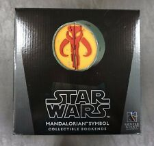 Mandalorian Symbol Collectible Bookends STAR WARS Gentle Giant /3000 MIB