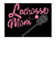 Lacrosse Lax Sport Cleat Stick Ball Mom Sticker - Landscape