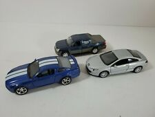 3 Die Cast Cars/Truck Kinsmart Mustang, Welly Avalanche, Peugeot 407 Coupe