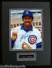 FERGIE JENKINS-CHICAGO CUBS-Autographed Picture-Double Matted w/ Brass Nameplate