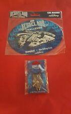 Star Wars 2017 Kessel Run Celebration Millennium Falcon runDisney Magnet & Pin