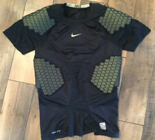 Men's Nike Pro Combat Dry Fit Padded Football Compression Top/Xl/Black/Green
