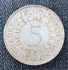 GERMANY 1965 F 5 Mark - Silver - Very Nice Coin
