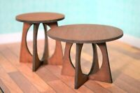 Dollhouse Miniature Livig Room Table Set 1:12 Scale Handcrafted Wood Brown