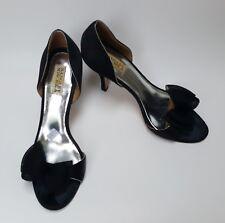 Badgley Mischka Shoes Heels Black Bow Dress Peep Toe Womens Size 10 M