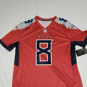 NWTs Nike Tennessee Titans Marcus Mariota #8 Jersey ON FIELD RARE RED Mens XL