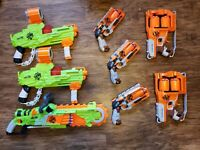 Nerf Gun Zombie Lot, guns deliver loaded & all of them work